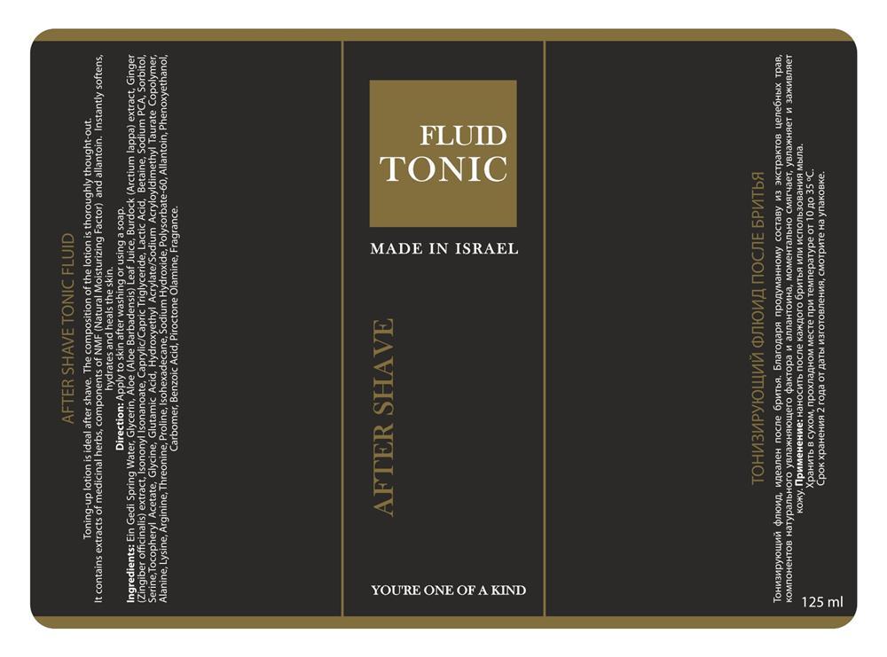 Етикетка з тисненням tonic fluid
