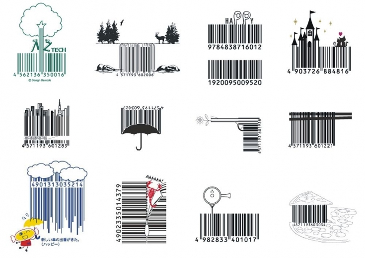 Self-adhesive labels and stickers with barcode